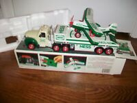 HESS Toy Truck And Airplane 2002 Collectible with Box