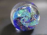 GLASS EYE STUDIO (GES)~ 2001 NORTHERN LIGHTS  CELESTIAL SERIES PAPERWEIGHT