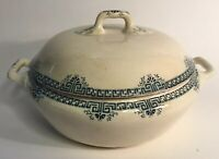 Antique French Faience Covered Soupiere Tureen c.1880 by Longwy
