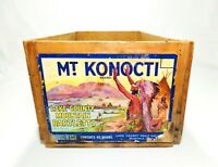 VINTAGE ADVERTISING LAKE COUNTY BARTLETTS MT. KONOCTI FRUIT CRATE W/PAPER LABEL