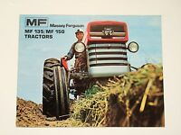 Massey-Ferguson MF 135 & 150 Tractor Color Brochure, 16 pg. original vintage '71