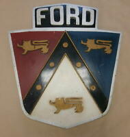 1940' -1950's  Ford Motor Co Dealership Shownroom Crest Sign Early Wood Version.