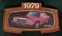 1979 Ford Motor Co Dealership Showroom Wall Sign LTD Landau Picture Display