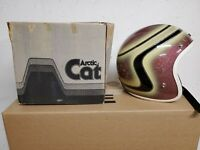 VINTAGE ARCTIC CAT SNOWMOBILE HELMET ARTIC CAT METAL FLAKE W/Box TINTED SHIELD