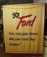 1953 Ford Motor Company Dealership Showroom Advertising Banner Sign