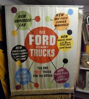 1953 Truck Ford Motor Company Dealership Showroom Advertising Banner Sign FoMoCo