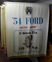 1954 Ford Motor Company Dealership Showroom Advertising Banner Sign FoMoCo