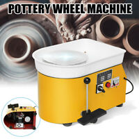350W Electric Pottery Wheel Machine For Ceramic Work Clay Art Craft 110V