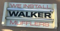Walker Mufflers Lighted Hanging Sign garage shop double dual 2 sided we install