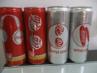 Coca Cola Israel quot; Summer lovequot; : 4 x 330 ml empty sleek cans limited edition
