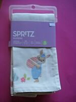 SPRITZ EASTER NAPKINS BUNNY DECORATED EGGS CHICKS 4 PATTERNS SET 4 NEW