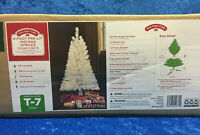 Holiday Time White 4' Pre-Lit Indiana Spruce Tree Clear Lights Christmas