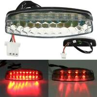 Motorcycle Off road Vehicle Atv Led Tail Light Brake Light 3 Wire With Socket