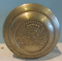 VINTAGE TIN ROUND BOX NEDERLAND COAT OF ARMS 3X6