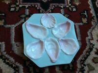 Antique 1880's Limoges Porcelain Oyster Plate Made For ABR French Co. Boston