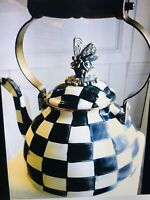 Mackenzie Childs Butterfly 3qt Teapot NEW! Gift Wrapped From MC!