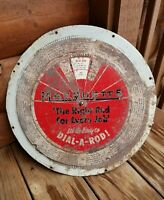 VTG Marquette Welder Advertising Sign Repair Farm Tractor Welding Dial A Rod 17