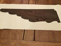Vintage Original Cast Iron 1930's Seaplane Airport Restroom Directional Sign