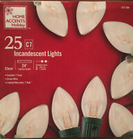 Home Accents Holiday Christmas Indoor/Outdoor Lights 25 C7  Incandescent Lights