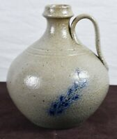Jugtown Ware Salt Glazed Jug North Carolina Pottery signed Vernon Owens