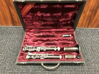 Wood Clarinet A. Robert Paris Key of A w/ 2 Buffet Barrels with Double Case