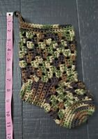 Handmade Crochet Stocking - Great for Christmas, Baby Shower, etc. - Camouflage