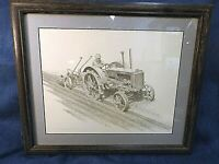 DON GREYTAK LTD ED  PRINT - CASE TRACTOR PLOWING - SIGNED- MATTED