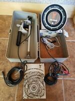 VTG 70s Waller Fish Hawk 301 Portable Flasher Fish Finder Box W/ Manual Complete