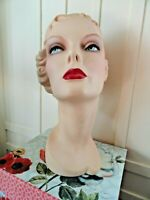 Decoeyes Mannequin Head/Bust Vintage 1940's Style Store Hat Jewelry Display IVY