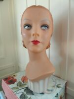 Decoeyes Mannequin Head/Bust Vintage 1930's Style Store Hat Jewelry Display KATE