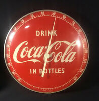RARE! Drink Coca Cola THERMOMETER Vintage WORKING 495A Made in USA