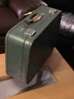 """Vintage Skyway Blue Leather Suitcase Luggage """"24"""