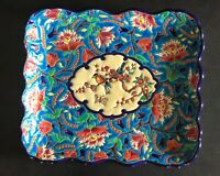 5685 Emaux de Longwy 1950's Square dish 11 x 9.5 Excellent condition 1618