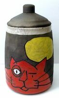 Billy Ray Mangham Cookie Snack Jar Cat Moon Sun 9
