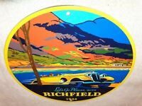VINTAGE RICHFIELD GAS W/ ANTIQUE CAR 11 3/4