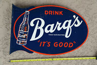 Vintage Soda Drink BARQ'S It's Good Root Beer Country Store Flange Sign