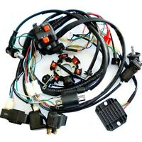 GY6 150cc Full ATV Quad Scooter Buggy Electric Wiring Harness Kit Magneto Stator