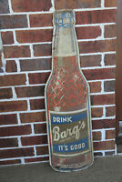 Vintage Soda Drink BARQ'S It's Good Root Beer Bottle Tin Sign