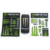 set of MONSTER Energy Drink logo sheets promo stickers decals