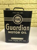 Vintage Pure Oil Company Guardian 2 Gallon Oil Can Advertising Gas Oil Can Clean