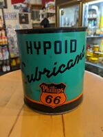 Vintage Phillips 66 Hypoid Lubricant 3 Pound Metal Oil Can