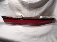 TEXACO VINTAGE SS TEXACO NORTH DAKOTA OIL GAS TANKER SHIP TOY USED