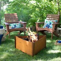 Red Ember 34 Inch Wood Burning Fire Pit