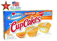 Hostess Cupcakes Orange Chocolate Golden Frosted Snack Cakes 6Pack 12Pack 24Pack