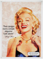 Marilyn Monroe LAH JEWELERS Metal DISPLAY SIGN