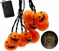 Top Race Halloween String Lights 10 Big 3 Inch Battery Powered Jack o...
