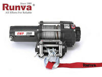 Runva 3500lb ATV UTV 12V Towing Recovery Electric Winch
