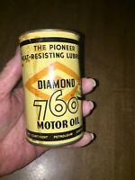 Very Rare Vintage Diamond 760 Mini Oil Can Bank GC with Authentic Patina