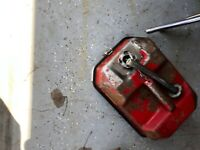 Vintage Blitz Fuel & Tool Mate USMC Metal 1 1/2 Gallon Gas Can and Tool Box