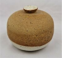 Vintage Art Pottery Stoneware Weed Pot Vase Signed by the Artist